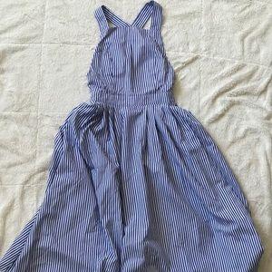 Midi backless summer dress